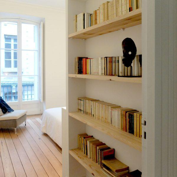 Bibliothèque chambre